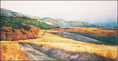 Pen and Ink Drawing by Kay Harden; Landscape Artist